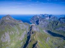 Lofoten peaks Stock Photo