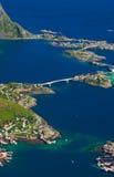 lofoten reine Норвегии Стоковое фото RF