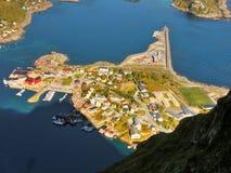 Lofoten, Reine Fjord Village Royalty Free Stock Image