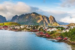 Lofoten, Reine, Norvegia immagini stock libere da diritti