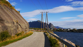 Lofoten road Royalty Free Stock Photo