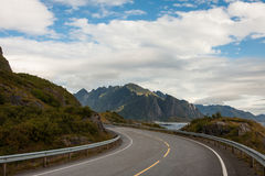 Lofoten road Royalty Free Stock Photos