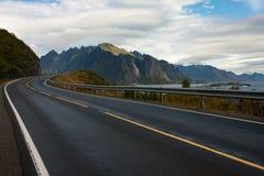 Lofoten road Stock Images