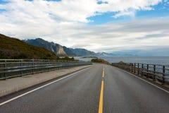 Lofoten road Stock Photography