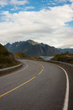 Lofoten road Stock Photos