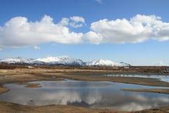 Lofoten's clouds mirroring Royalty Free Stock Photos