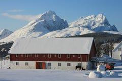 Lofoten's farm Stock Photo