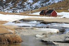 Lofoten's Farm  of Haukland Stock Images