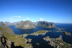 Lofoten's fjords royalty free stock photos