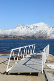 Lofoten's footbridge Stock Images