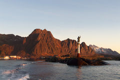 Lofoten's harbour royalty free stock images