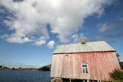 Lofoten's loft beach & cloudy blue sky Stock Photos