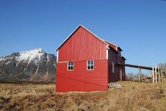 Lofoten's loft, mounts  blue sky Stock Images