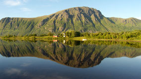 Lofoten's mirroring hill royalty free stock image
