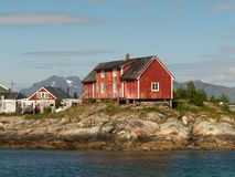 Lofoten's old farm. Old farm in Henningsver in Lofoten, arctic Norway royalty free stock image