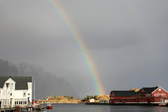 Lofoten's rainbow Royalty Free Stock Photography