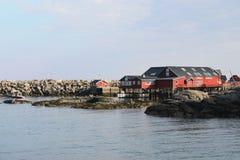 Lofoten's stone  harbour Royalty Free Stock Photos