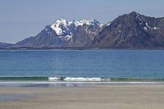 Lofoten sand beach Royalty Free Stock Photography