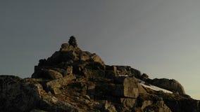 Lofoten-Steinhaufen Stockfoto