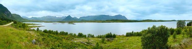 Lofoten summer panorama (Norway). Stock Images
