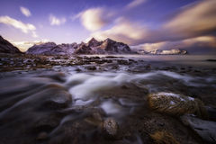 Lofoten sunset Royalty Free Stock Photos