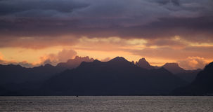 Lofoten sunset Royalty Free Stock Photography