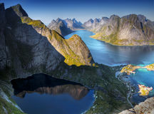 Lofoten, View from Reinebringen Stock Photo