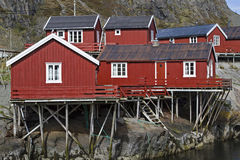 Lofoten village  A Stock Image