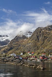 Lofoten village A Royalty Free Stock Image