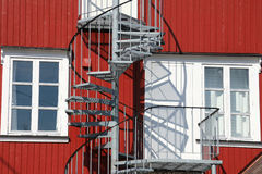 Lofoten windows and spiral staircase Stock Images