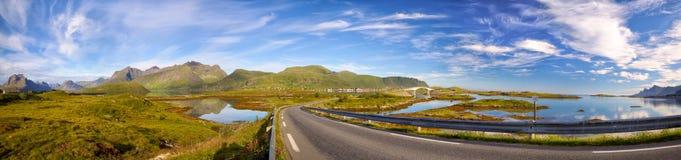 Lofoten wysp panorama zdjęcie royalty free