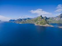 Lofoten wysp wybrzeże obraz stock