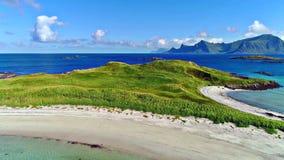 Lofoten wyspy są archipelagiem w okręgu administracyjnym Nordland, Norwegia fotografia stock