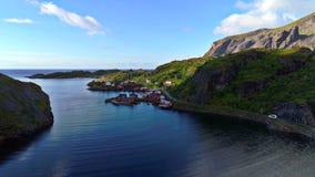 Lofoten wyspy są archipelagiem w okręgu administracyjnym Nordland, Norwegia obrazy royalty free