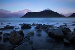 Lofotenfjord, Noorwegen Royalty-vrije Stock Afbeelding