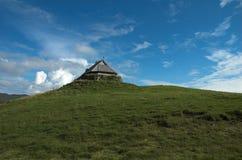 The lofotr viking museum. The chieftain's dwelling/lofotr viking museum at borg in lofoten, norway Royalty Free Stock Photo