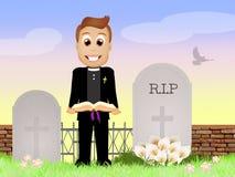 Lofprijzing in de begraafplaats vector illustratie