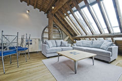 Loft apartment stock photos