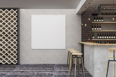 Loft bar/pub with clean banner Royalty Free Stock Photo