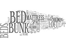 Are Loft Beds Bunk Beds Safeword Cloud. ARE LOFT BEDS BUNK BEDS SAFE TEXT WORD CLOUD CONCEPT Royalty Free Stock Image