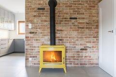 Loft with brick wall Royalty Free Stock Photo