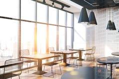 Loft cafe interior toned Stock Photos