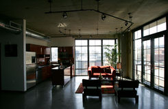 Loft Condo. Modern Loft Condo in Pearl District, Portland Royalty Free Stock Images