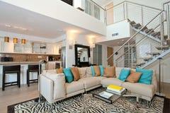 Loft Condo. Open loft living space Royalty Free Stock Photos