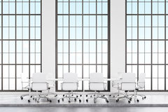 Loft conference room with white furniture Royalty Free Stock Image