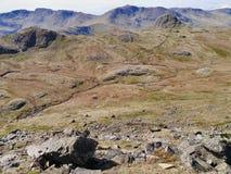Loft Crag i szczupak Stickle, Jeziorny okręg obraz royalty free