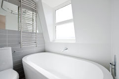 Loft en-suite bathroom Stock Photos