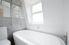 Loft en-suite bathroom stock photos