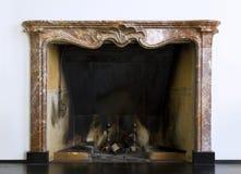 Loft interior. Fireplace in cozy loft interior Royalty Free Stock Photography