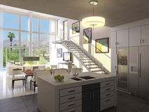 Loft Interior Royalty Free Stock Images